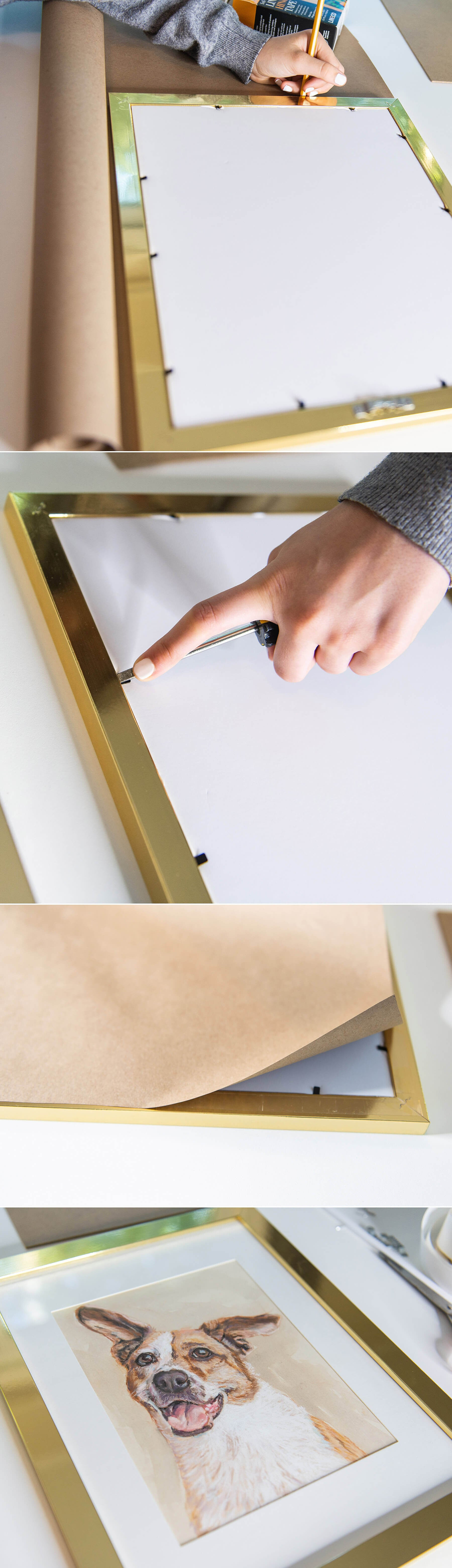 How frame a pastel painting step by step — here's how to seal the back of your frame.