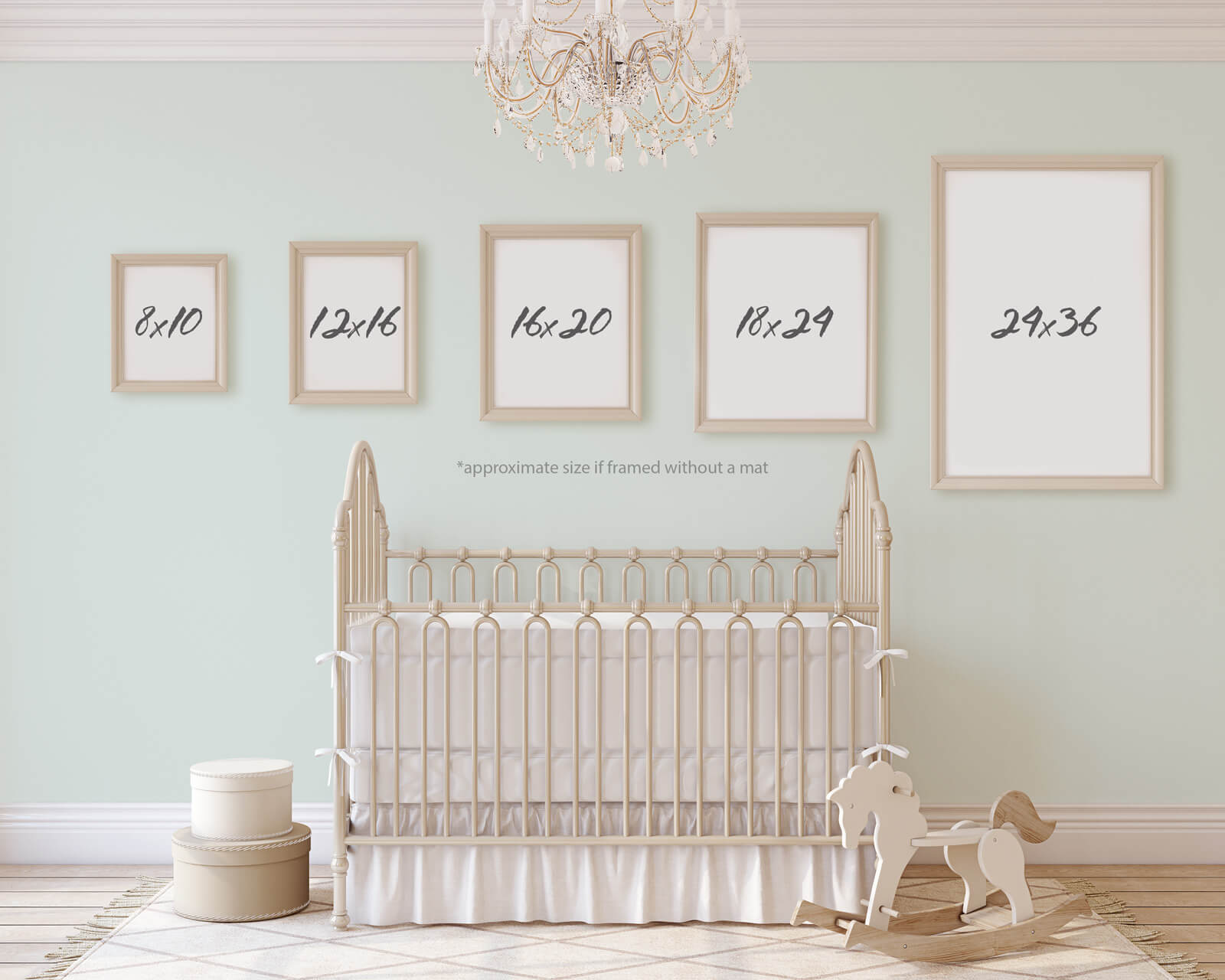 Print Sizes for Delicious Design House Nursery Prints Size Guide