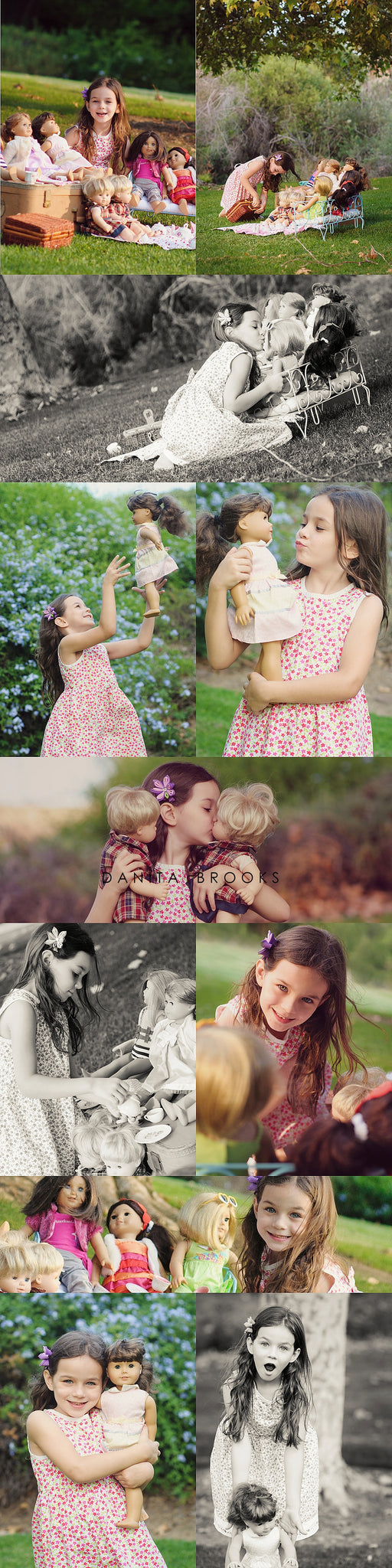 Ideas for your little American Girl styled photo session joyful play! / Delicious Design House