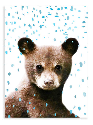 Baby Bear Confetti Animal Print - Delicious Design House