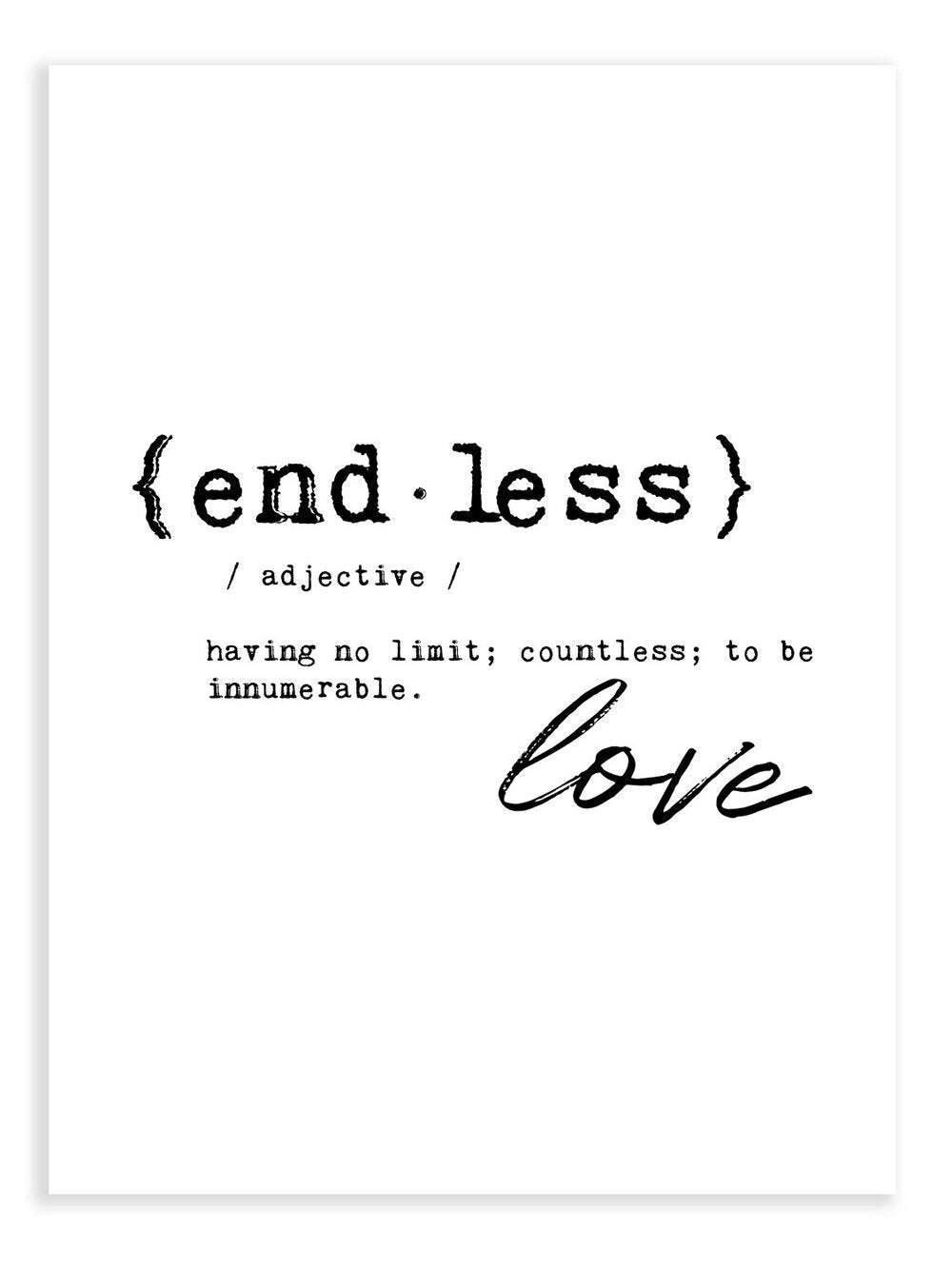 Endless Love Definition Print - Delicious Design House