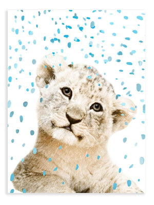 Lion Cub Confetti Animal Print - Delicious Design House