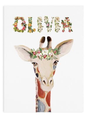 Personalized Safari Flower Animal Print - Delicious Design House