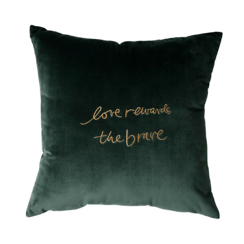 befd22b476d0 Gold Embroidered Velvet Cushion Cover Pillow Case Throw 45cm
