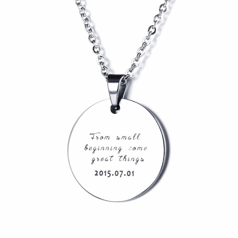 Personalized engraved picture necklace stainless steal necklace personalized engraved picture necklace stainless steal necklace pendants custom necklace personalized jewelry aloadofball Images