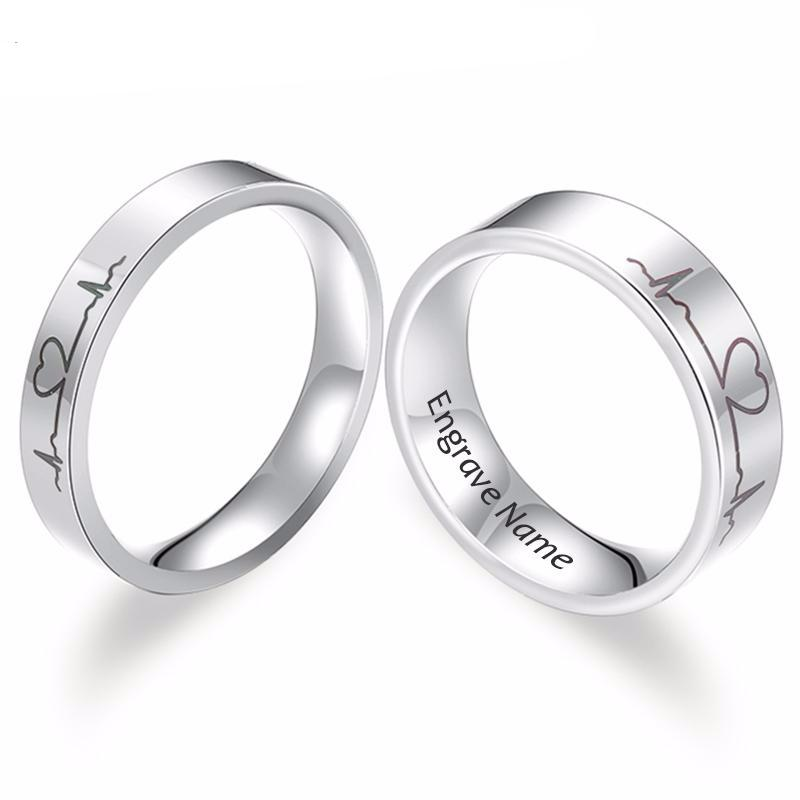 il stainless brushed mens fit listing wedding comfort steel band rings