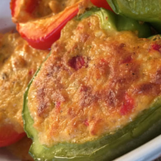Stuffed Bell Peppers with Birdie's Pimento Cheese