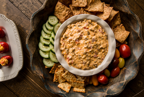 Birdie's Pimento Cheese Sausage dip for Super Bowl Sunday