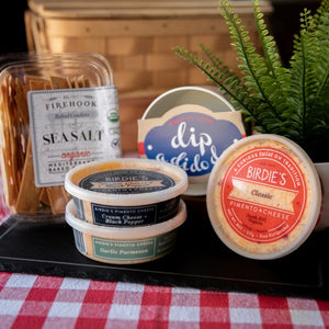 "BIRDIE""s Pimento Cheese - a family spread - firehook crackers - dip a di do da bowl"