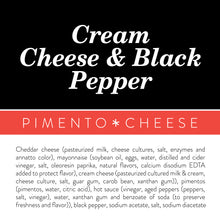 Load image into Gallery viewer, Cream Cheese + Black Pepper Pimento Cheese - Birdie's Pimento Cheese