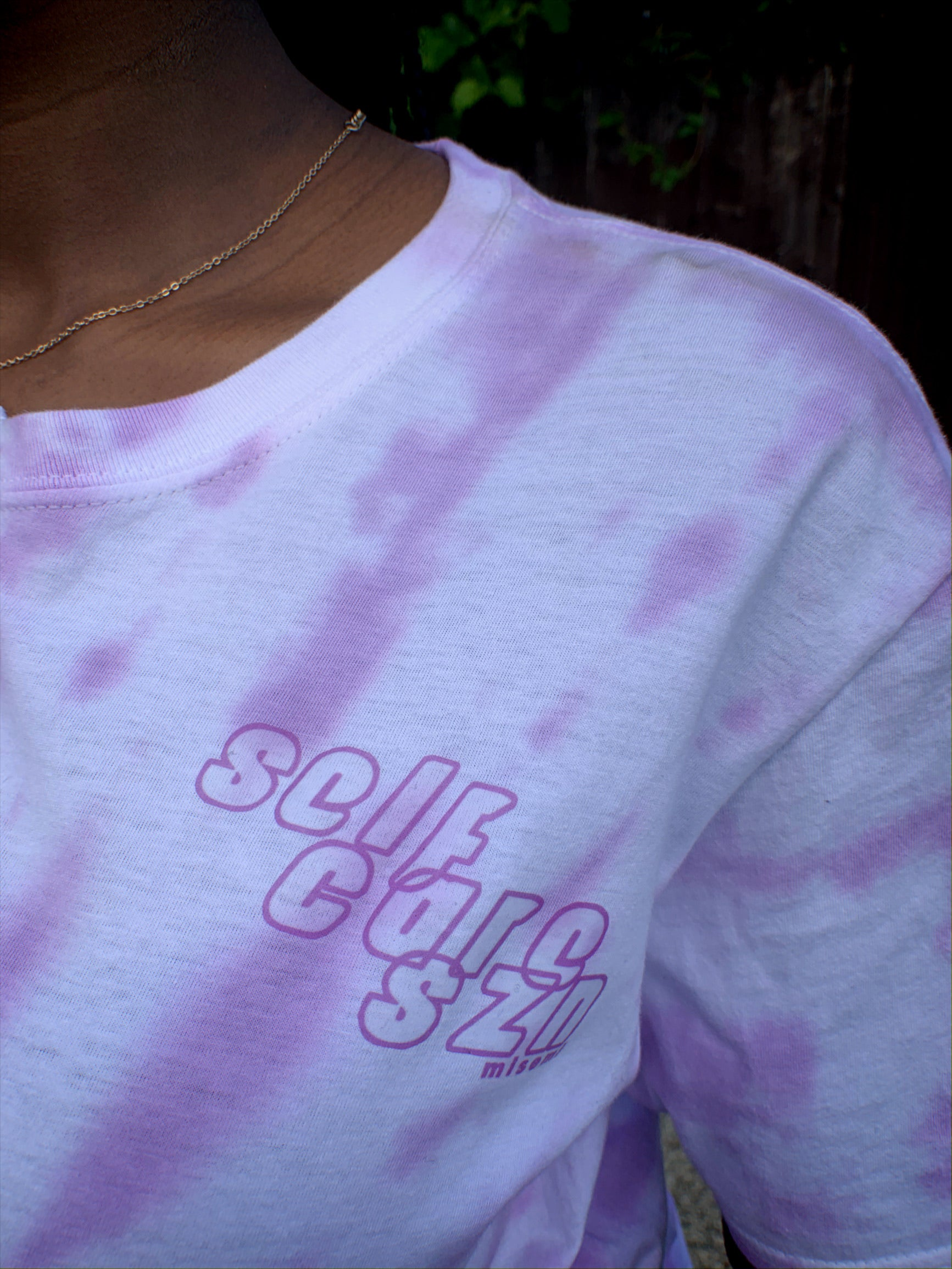 Half Tie Dye 'Self Care Szn' Tee