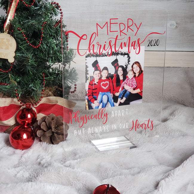 Holiday Acrylic Plaques with rounded corners! Fully Customizable