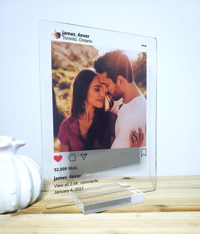 Instagram Acrylic Plaque - Convert an Instagram Post into a momorable frame