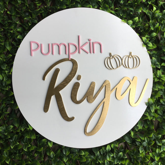 Painted | Round Names | 3D Name Plaques