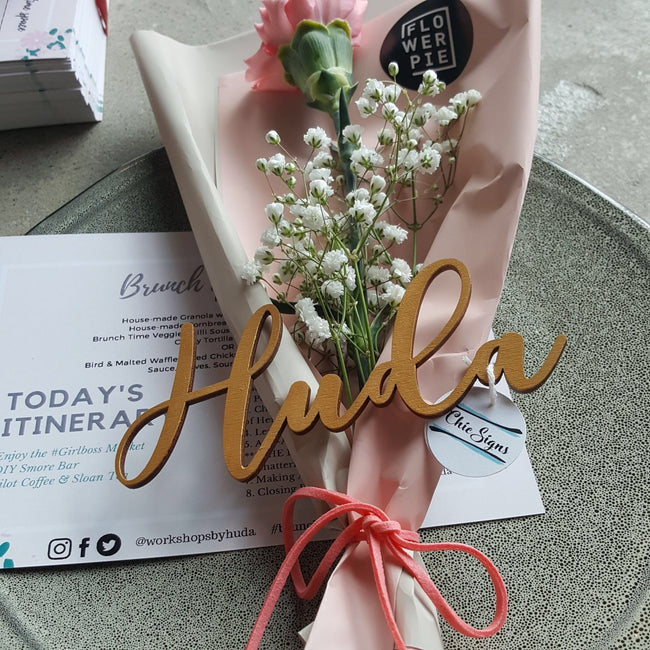 Place Setting Guest Names - ChicSigns.ca