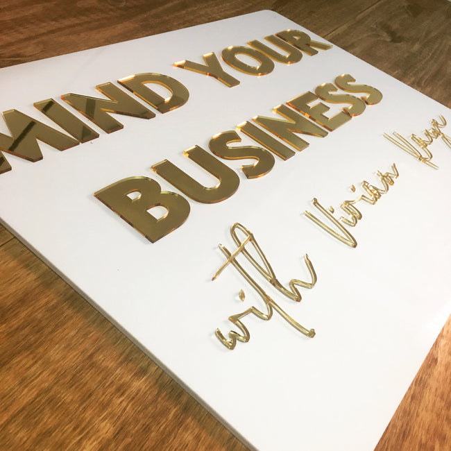 "24"" Custom Acrylic Signs for Business"