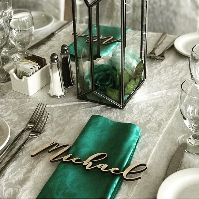 Place Setting Guest Names