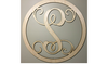 Single initial Monogram in circle - Raw wood - ChicSigns.ca