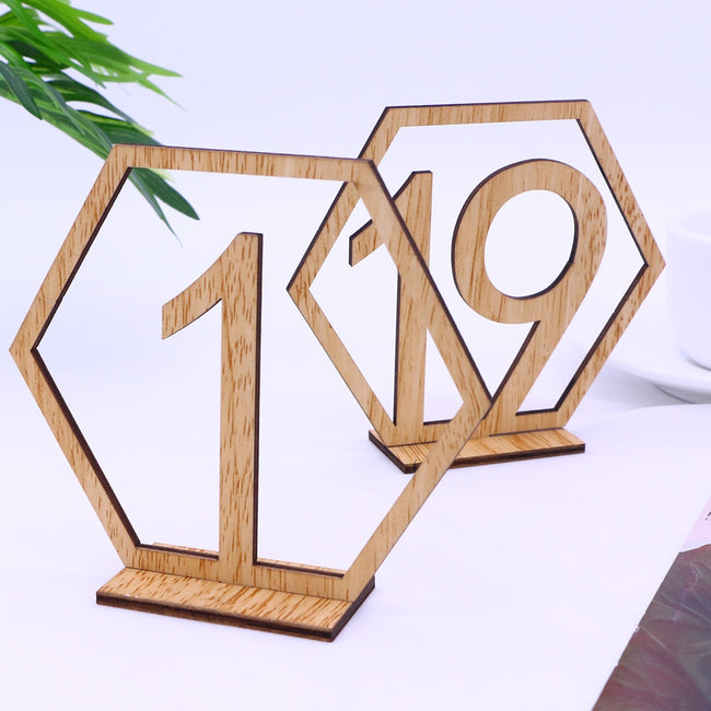 Set of 20 table numbers for seating assignment