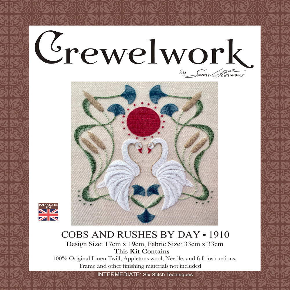 Crewel Embroidery Kit Cobs And Rushes By Day