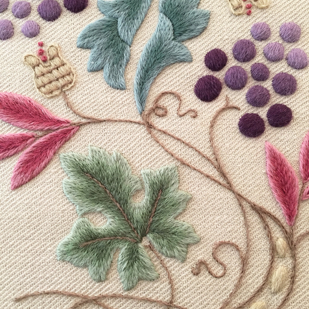 Crewel Embroidery Kit Grapevine and Pippins