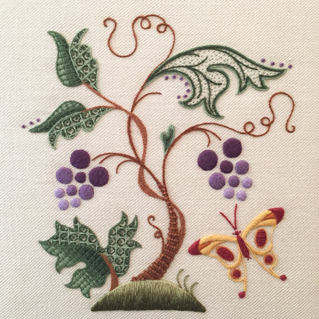 Crewel Embroidery Kit Butterfly Harvest
