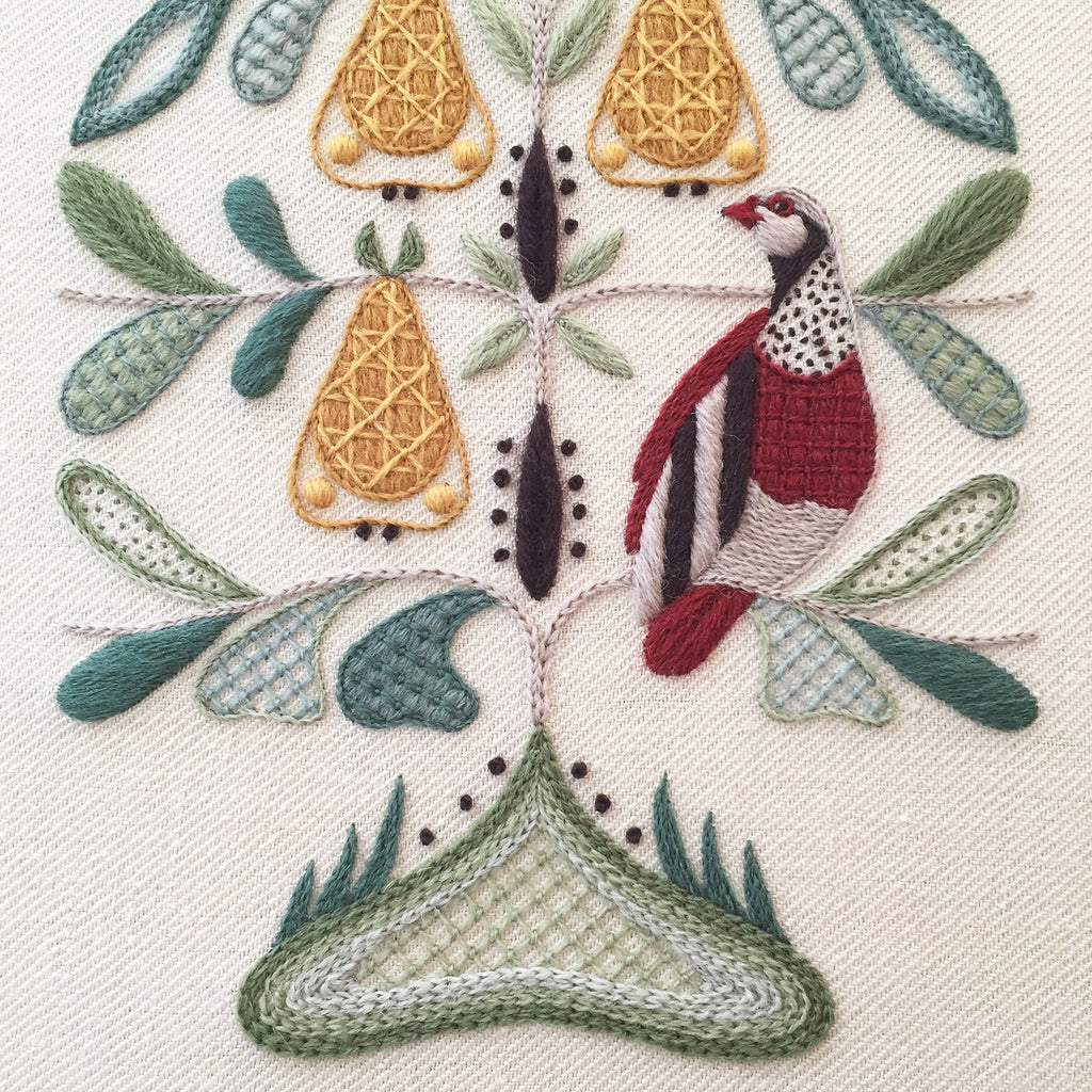 Crewel Embroidery Kit And A Partridge In A Pear Tree