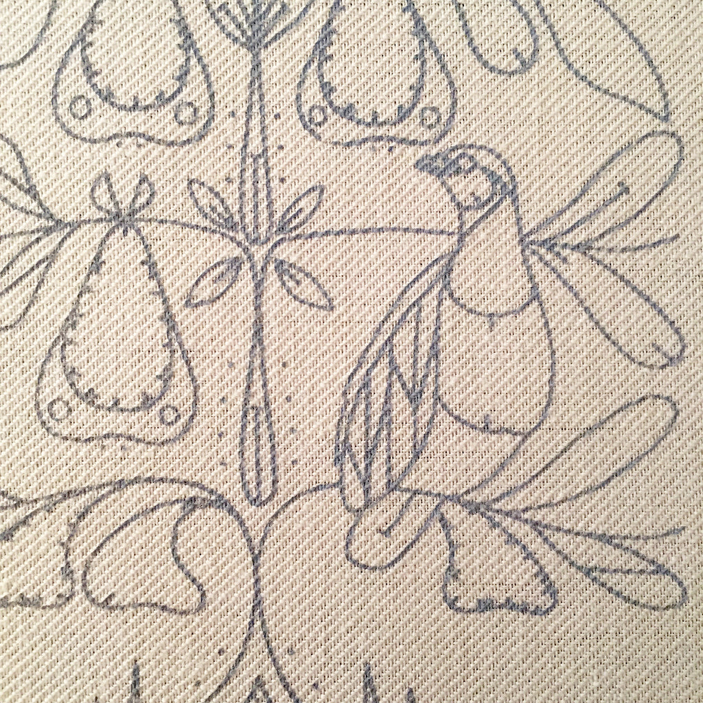 Printed Linen Twill, And A Partridge In A Pear Tree