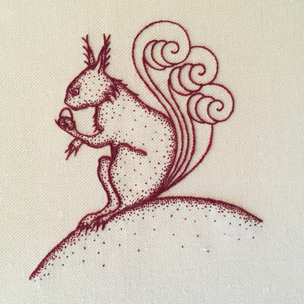 Heritage Squirrel Jacobean Crewel Embroidery Kit