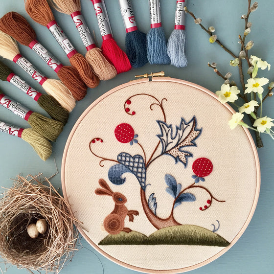 Crewel Embroidery Kit A Rabbit Summer