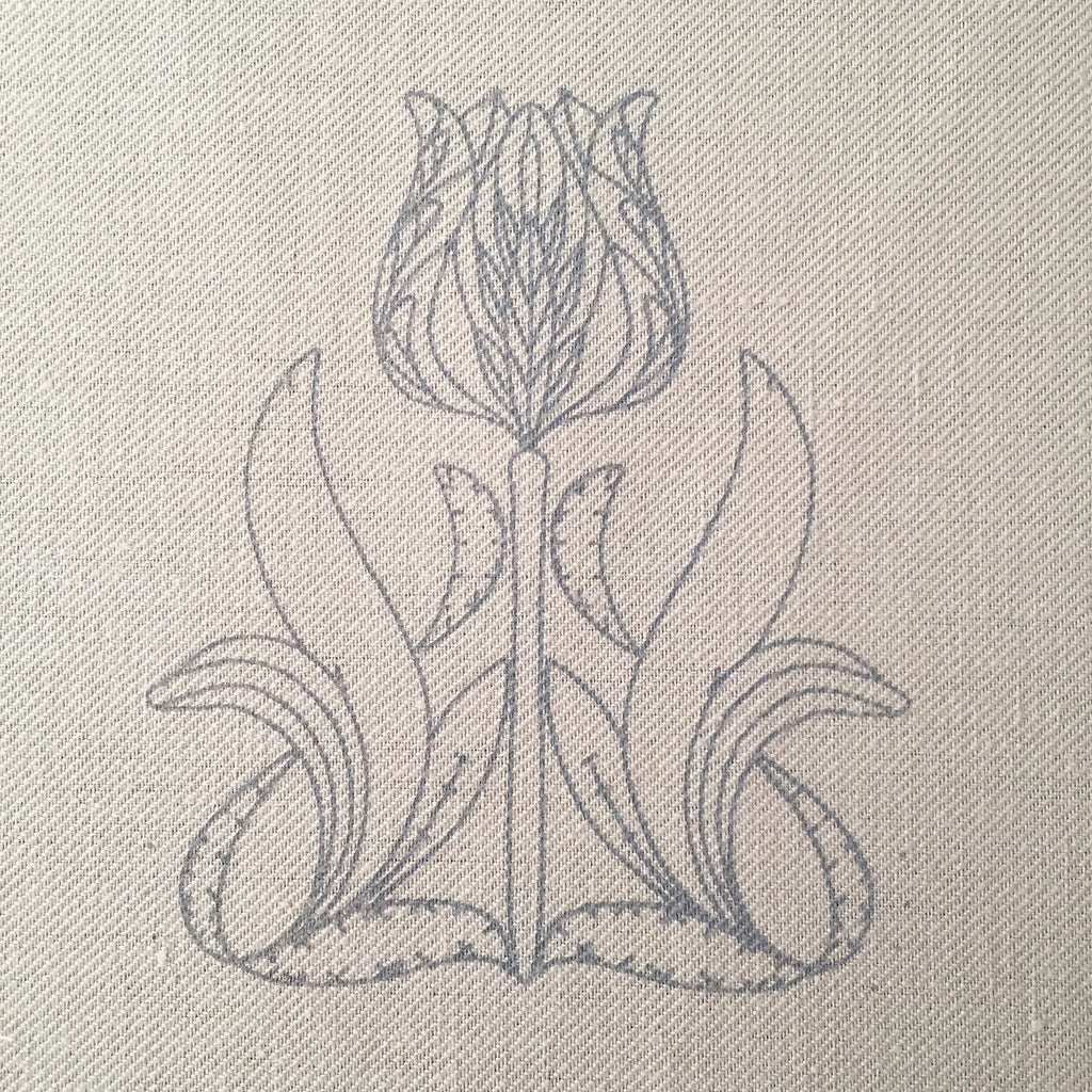 Printed Linen Twill, The Tulipa Collector