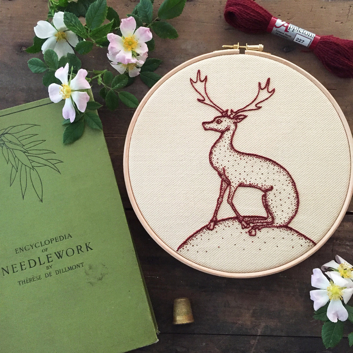 Heritage Deer Jacobean Crewel Embroidery Kit