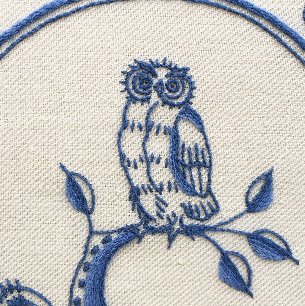 Heritage Range (Delftware) Owl Crewel Embroidery Kit