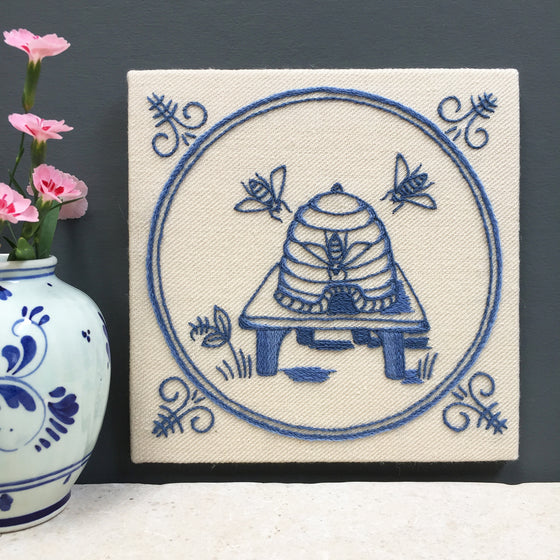 Heritage Range (Delftware) Bees & Skep Crewel Embroidery Kit