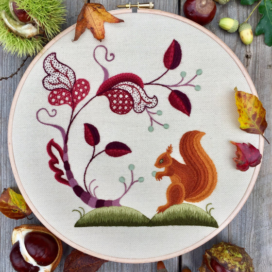 Crewel Embroidery Kit An Autumnal Gathering