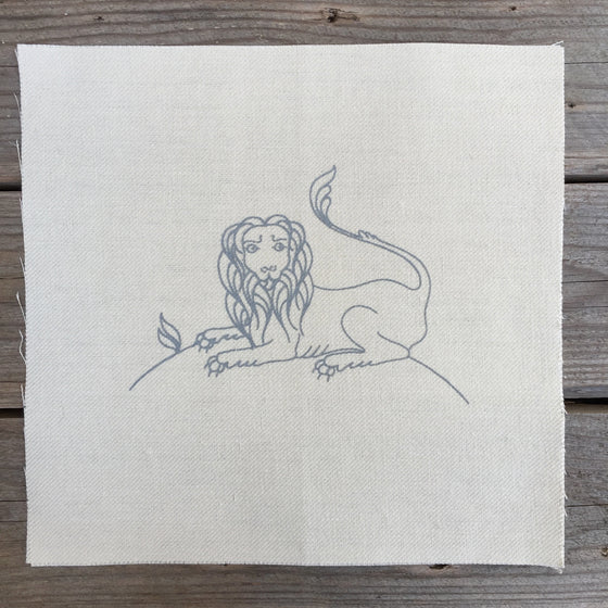 Heritage Range (Animals) Lion Printed Linen