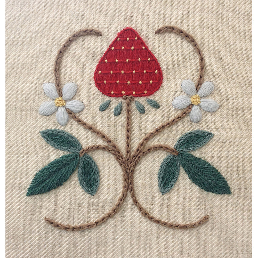 Crewel Embroidery Kit A Strawberry Fair