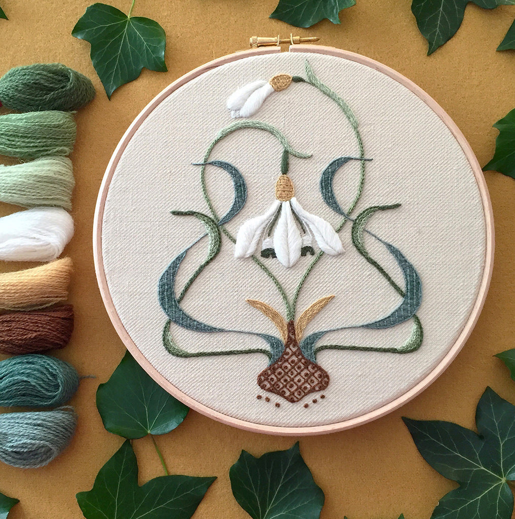 Crewel Embroidery Kit The Galanthus Collector