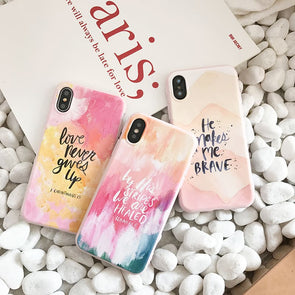 Pastel Quote Case for iPhone
