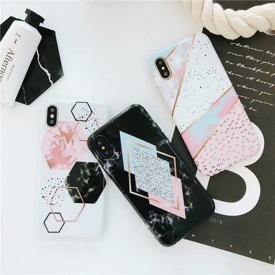 Polygon Marble iPhone Case