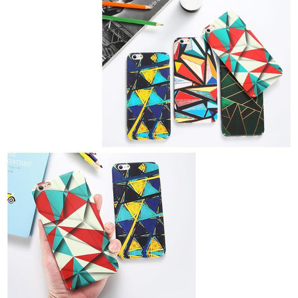 Abstract Rhombus Rainbow Case for iPhone