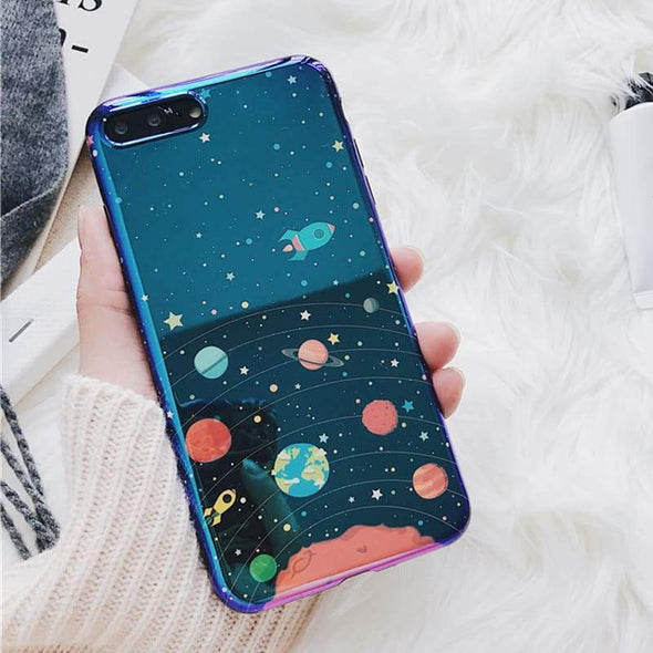 Blu-Ray Colorful Universe Case for iPhone Planets & Rockets / iPhone 7 Plus