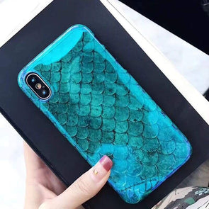 Blu-Ray Mermaid Scale Case for iPhone iPhone 7 Plus