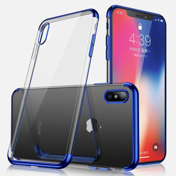 Crystal Plating Case for iPhone Blue / iPhone Xr