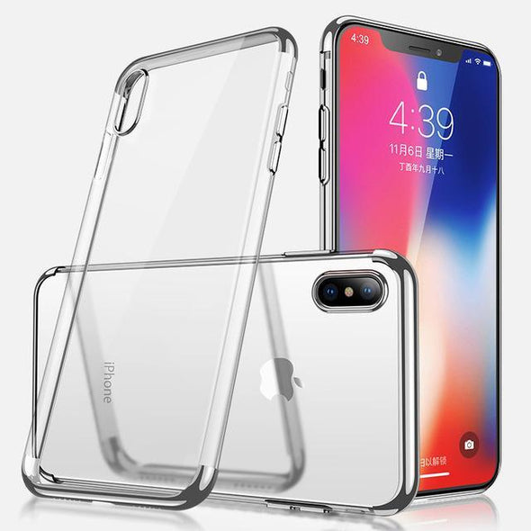 Crystal Plating Case for iPhone Silver / iPhone Xr