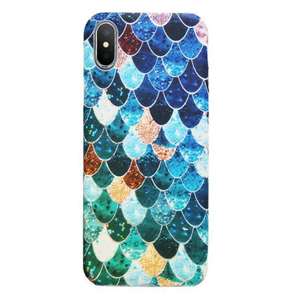 Mermaid Scales Case for iPhone Blue / iPhone X