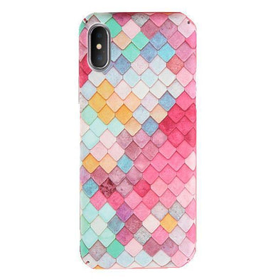 Mermaid Scales Case for iPhone Pink / iPhone X