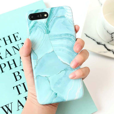 Mint Pearl Marble Case for iPhone