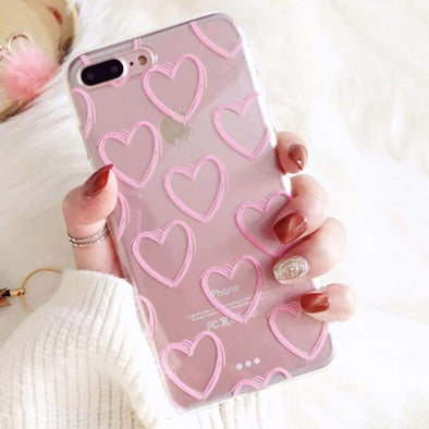 Pink Heart Transparent Case for iPhone iPhone 6 Plus/6s Plus