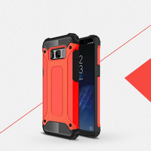Rugged Armor Case for Samsung Galaxy Red / Galaxy S8